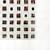 collage - medium, ray eggs, black thread, glass - 185/185cm